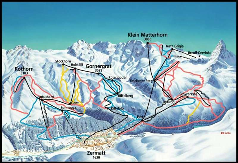 Haus Solvay Zermatt - Maps on